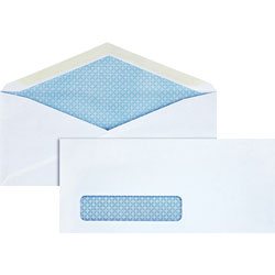 "Business Source Security Window Envelopes, No. 10"", 4-1/8""x9-1/2"", 500/BX, White"