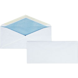 "Business Source Security Regular Envelopes, No. 10, 7-1/8""x9-1/2"", 500/BX, White"