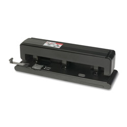 Business Source Effortless Hole Punch, 2-3 Holes, 40 Sh Capacity, Black