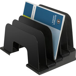 "Business Source Large Step Organizer, 9-1/8""x9""x13-3/8"", Black"