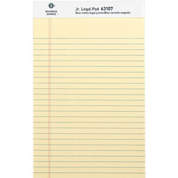 "Business Source Pad, Micro-Perforated, Jr. Legal Rld, 50 Sh, 5"" x 8"" 12/DZ, Canary"