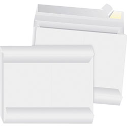 "Business Source Expansion Envelopes, Open Side, 12"" x 16"" x 2"", 100/CT, White"