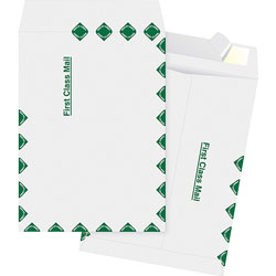"Business Source Catalog Envelopes, First Class, 12"" x 15-1/2"", White"