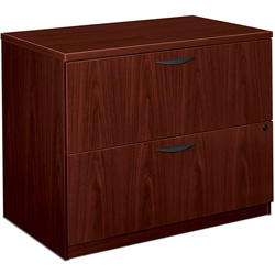 "Basyx by Hon 2-Drawer Lateral File, 35-1/2"" x 22"" x 29"", Mahogany"