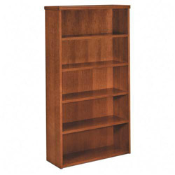 Basyx by Hon Five Shelf Bookcase, Rich Wood Veneer, Bourbon Cherry, 36w x 13d x 66h