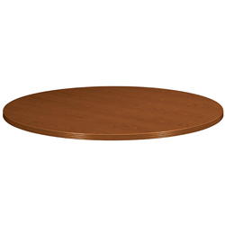 "Basyx by Hon 42"" Round Veneer Top Conference Table, Top Only, Bourbon Cherry"
