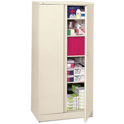 Basyx by Hon Easy-to-Assemble Storage Cabinet, 36w x 18d x 72h, Putty
