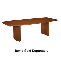 "Basyx by Hon Curved Base, for Rectangular Table, 28""H, Bourbon Cherry"
