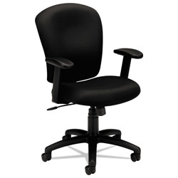 Basyx by Hon Basyx Series Swivel Task Chair, Black Fabric