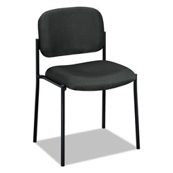 "Basyx by Hon Armless Guest Chair, 21-1/4""x21""x32-3/4"", Charcoal"