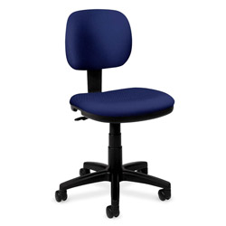 Basyx by Hon Basyx Series Swivel Task Chair, Navy Blue Fabric