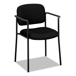 "Basyx by Hon Guest Chair With Arms, 23-1/4""x21""x32-3/4"", Black Fabric"