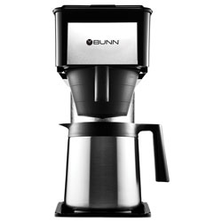 Bunn-O-Matic 10-Cup Velocity Brew BT Thermal Coffee Brewer, Black, Stainless Steel