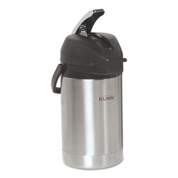 Bunn-O-Matic 2.5 Liter Lever Action Airpot, Stainless Steel