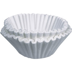 Bunn-O-Matic BCF-100 Flat Bottom Paper Coffee Filters, 10 Cup Size