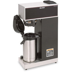 Bunn-O-Matic Airpot Coffee Brewer, Brews 3.8 Gal., Stainless Steel w/Black Accents