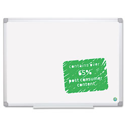 MasterVision™ Earth Easy-Clean Dry Erase Board, 48 x 72, Aluminum Frame