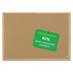 MasterVision™ Cork Board, w/ MDF Frame, 4'x6', Brown