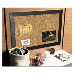 MasterVision™ Natural Cork Bulletin Board, 24x36, Cork/Black