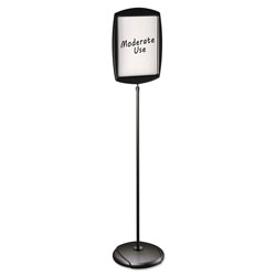 "MasterVision™ Floor Stand Sign Holder, Rectangle, 15x11 sign, 68"" high, Black Frame"