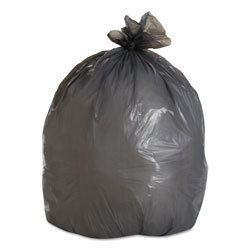 "Boardwalk Super Heavy-Duty Gray Flat-Bottom Trash Bags, 30 Gallon, 0.95 Mil, 30"" x 36"", Case of 100"
