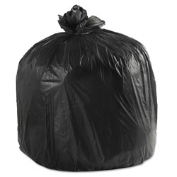 Boardwalk LD Can Liners, 40-45gal, .60mil, 40w x 46h, Black, 25 Bags/Roll, 4 Rolls/CT