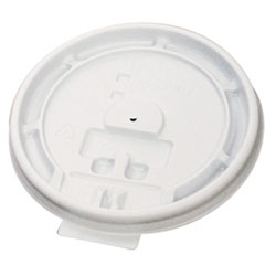 Boardwalk 8TABLID White Tear Tab Plastic Lids for 8 Ounce Cups