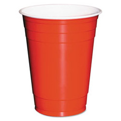 Boardwalk 16 Oz Cold Plastic Cups, Red, Pack of 1000