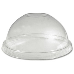 Boardwalk YPDL-20C Clear Dome Lid for 5 oz Sundae & 9-20 oz Cups