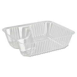 Dart Container C56NT2 Clear Pac Nacho Trays w/2 Compartments
