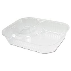 Dart C68NT2 ClearPac Large Nacho Trays w/2 Compartments