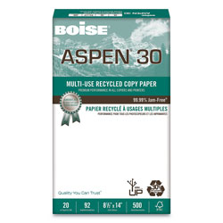 Boise Aspen Copy Paper, 8 1/2 x 14, 92 Bright, 20 lb, 500 Sheets Per Ream, Case of 10 Reams