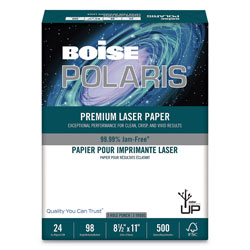 Boise Presentation Laser Paper, Three Hole Punch, 24 lb., 8 1/2 x 11