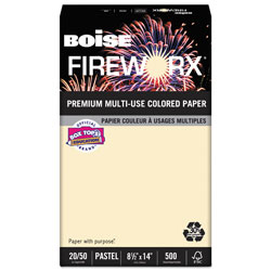 Boise Multipurpose Color Paper, 20lb, 8-1/2 x 14, Flashing Ivory, Ream