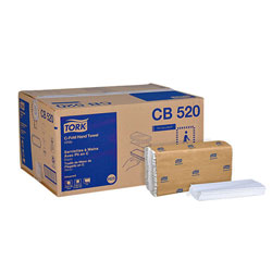 "Tork Advanced CB520 C-Fold Paper Hand Towel, 1-Ply, 12.75"" Width x 10.13"" Length, White"