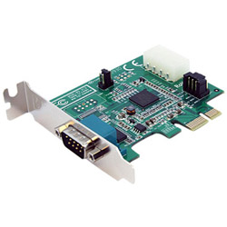 Startech 1 Port Low Profile Native PCIe RS232 Serial Adapter Card W/ 16950 UART - Serial Adapter - 1 Ports