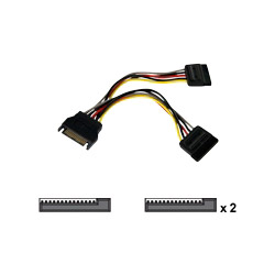 Startech SATA Power Y Splitter Cable Adapter - Power Splitter - 6 In