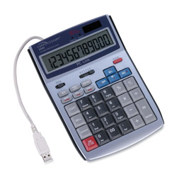 "Compucessory 22083 12 Digit LCD Calculator with PC Interface/USB Hub, 5 1/2""x7 1/2""x1 1/2"""