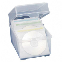 "Compucessory 22292 CD Storage Box w/Sleeves ,5 3/4"" x 7 1/2"" x 5 1/2"""