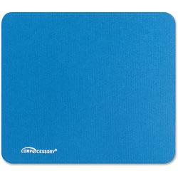 "Compucessory 23605 Blue Economy Mouse Pad w/Nonskid Rubber Base, 9 1/2"" x 8 1/2"""