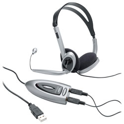 Compucessory 55257 Headset w/USB Adapter & LED Indicator
