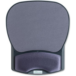 "Compucessory 55302 Charcoal Mouse Pad w/ Gel Wrist Rest, 8 7/10"" x 10 1/5"" x 1 1/5"""