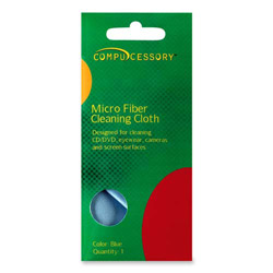 "Compucessory Screen Cleaning Wipe, Optical Grade, 8""x4"", 1 Sachet, Blue"