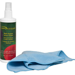 Compucessory Screen Cleaner, W/Microfiber Cloth, Spray Bottle, No Alcohol