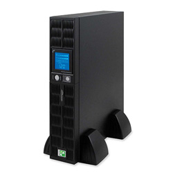 Compucessory UPS Power System, w/ LCD Screen, 8 Outlets, 1000 Watts, Black