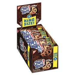 Nabisco Chips Ahoy Chocolate Chip Cookies, King Size, 4.15 oz Pack, 8/Box