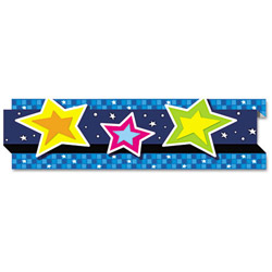 "Carson Dellosa Pop-It Border, Stars, 3"" x 24', 8 Strips/Pack"