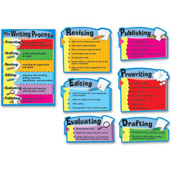 "Carson Dellosa Writing Process Chart, 7 Pieces, 17"" x 24"""