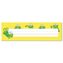 "Carson Dellosa Publishing Company Frogs Desk Nameplates, 9 1/2"" x 3"""
