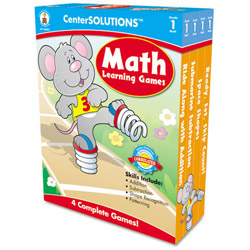 Carson Dellosa Publishing Company Math Learning Games, 4 Game Boards, 2-4 Players, Grade 1